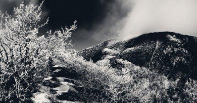 Черно-белые фотографии зимнего Машука