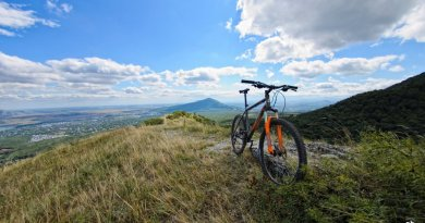На велосипеде по Бештау
