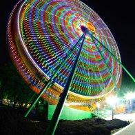 Пятигорское колесо обозрения ночью