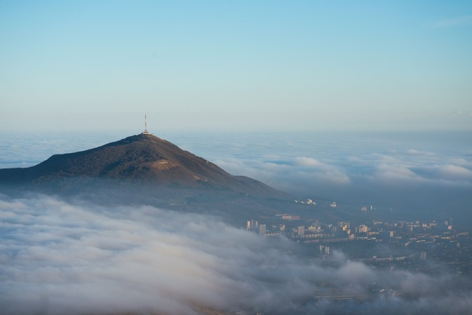 Туман и облака в Пятигорске
