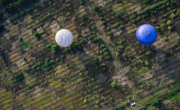 Воздушные шары, вид сверху