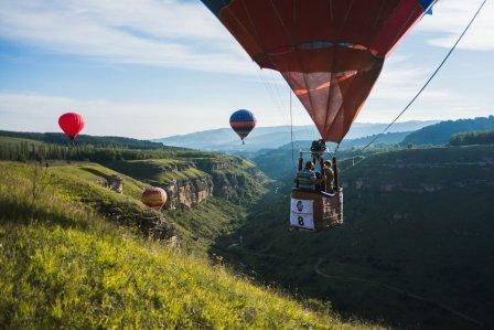 Взлёт воздушных шаров в Берёзовке