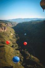 Фото воздушных шаров на дне Берёзовского ущелья