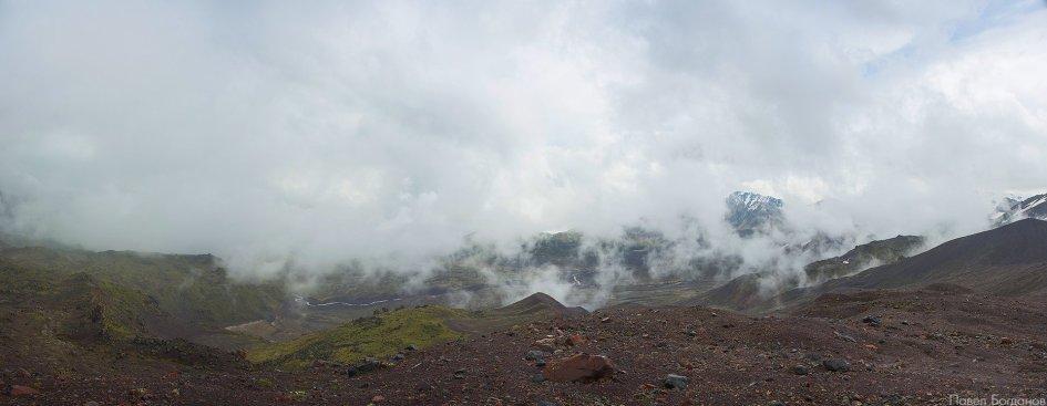 Панорама северо-восточного склона Эльбруса