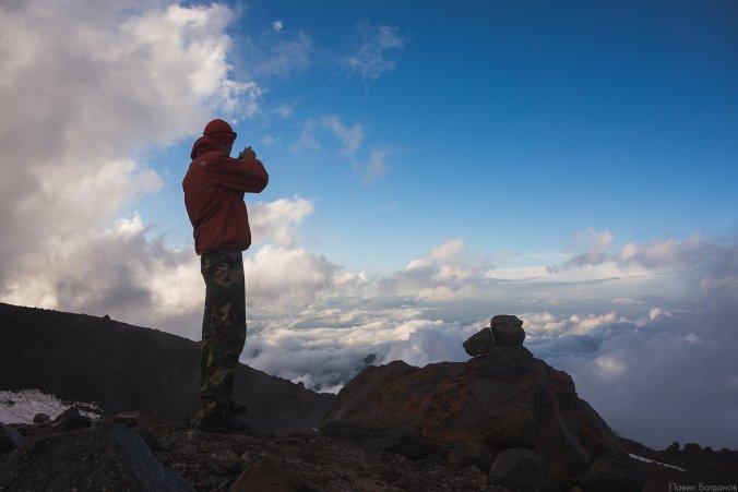 Фото на северном склоне Эльбруса