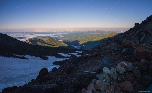 Вид с высоты 3800 в сторону Кавминвод