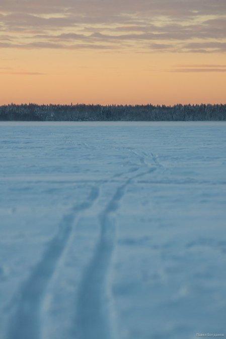 Лыжня на Кавголовском озере