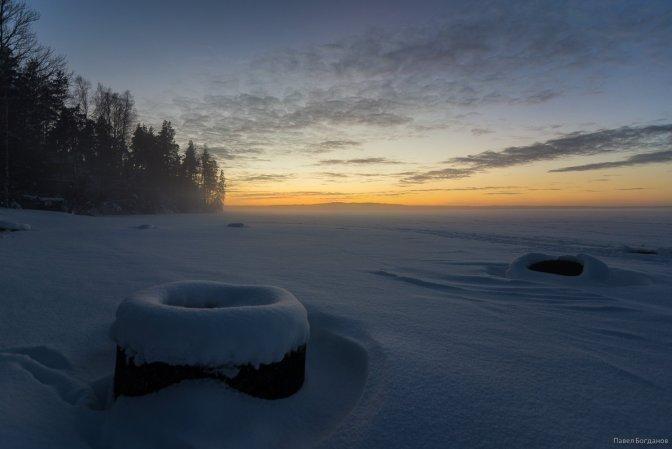 На берегу Кавголовского озера