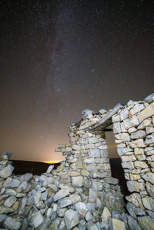 Развалины метеостанции на Бермамыте