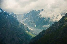 Вид на Цейский ледник с высоты