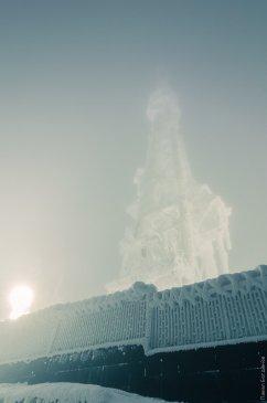 Пятигорская телевышка зимой
