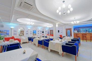 Интерьерное фото ресторана в отеле