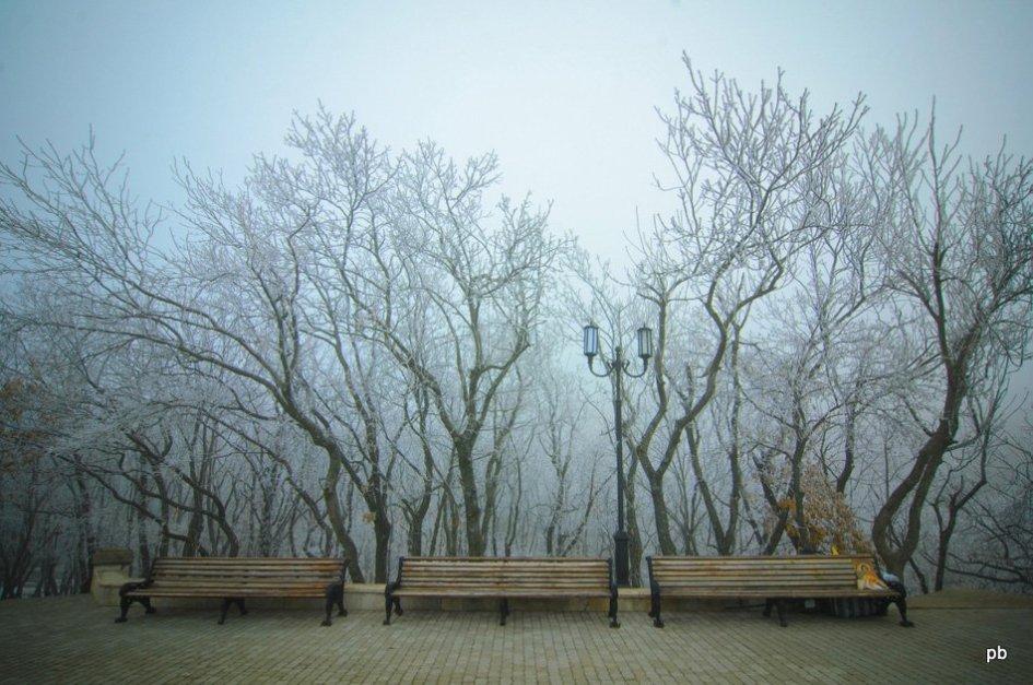 Скамейки рядом с Эоловой арфой