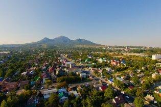 Фотография Пятигорска с воздушного шара
