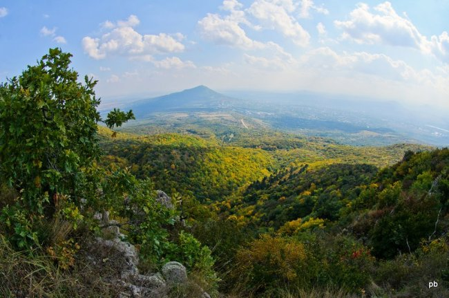 Панорама Пятигорска с Бештау
