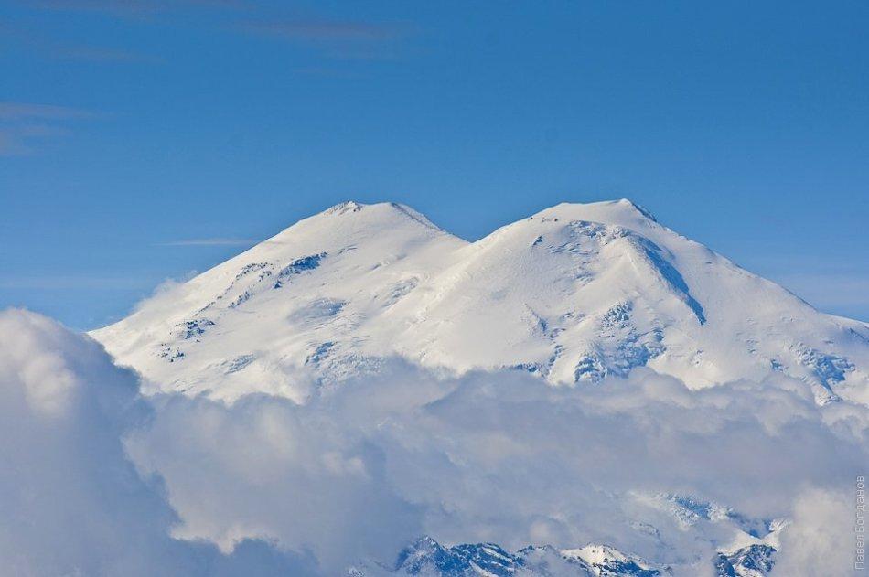 Вид на Эльбрус с Бермамыта