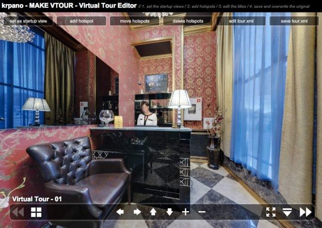 Виртуальный тур в krpano - интерфейс редактора