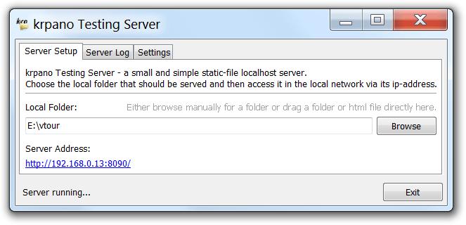 Настройки сервера krpano