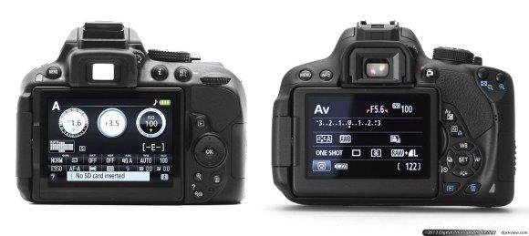 Экранчик Nikon d5300 и Canon 700D