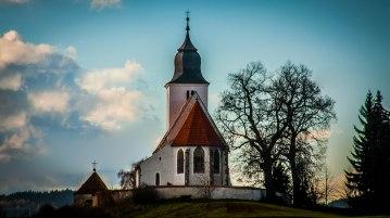 Kostel sv.Vavřince na Zdouňi (Hrádek u Sušice | říjen 2013)