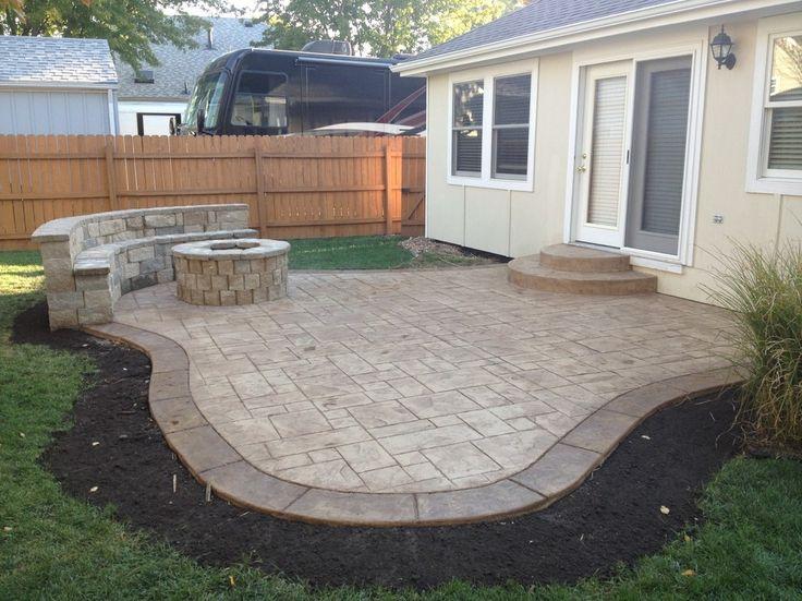 Stamped Concrete Patio Pavers Cost. Intsallation Price on Square Concrete Patio Ideas  id=29404