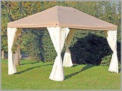 Pavillon 3x4m Sahara braun Partyzelt 4x3m Verkaufszelt wasserdicht von stabilepartyzelte