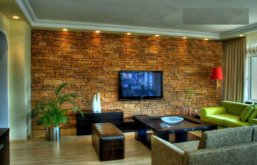 parete attrezzata in cartongesso per il soggiorno • info … Immagini Rivestimento Pietra Stampata E Pietra Ricostruita