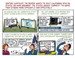 Šest Kalifornija, u šaljivom stripu