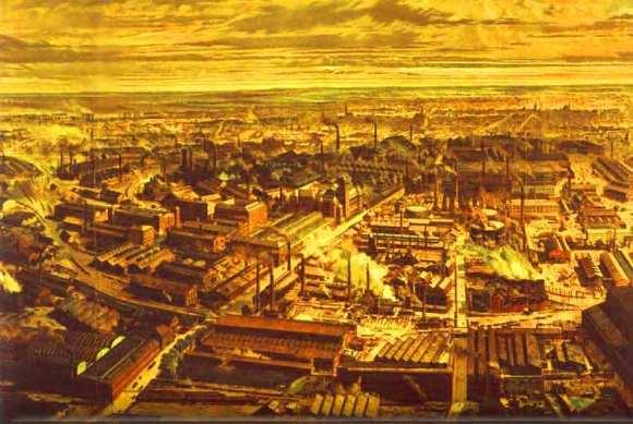 Prikaz fabrika dinastije Krupp, familije nemačkih industrijalaca više od 400 godina - daleko pre pojave industrijalizacije