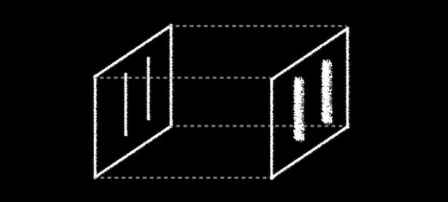 Da se elektroni ponašaju kao 'loptice'tj. kao čestice, trebalo bi očekivati da se na zaslonu pojave u obliku dve jasne pruge (Aatish Bhatia)