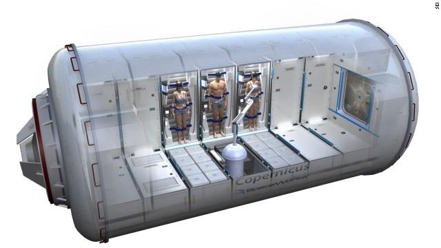 Habitat za posadu u hibernaciji - umetnička vizija, a po konceptu koji se trenutno razvija