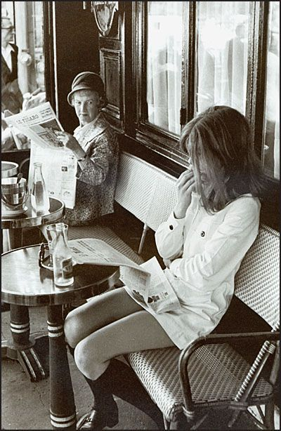 """Braserija Lipp"", Boulevar Sen-Žermen, Pariz (Henry Cartier - Bresson, 1969.)"