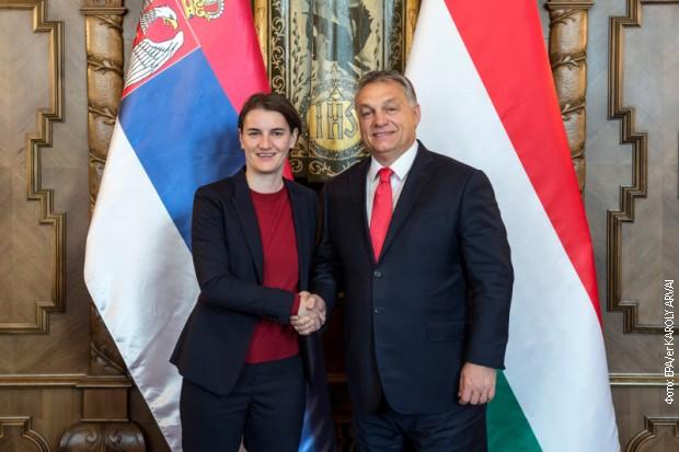 Srpska premijerka Ana Brnabić i mađarski šef vlade, Viktor Orban