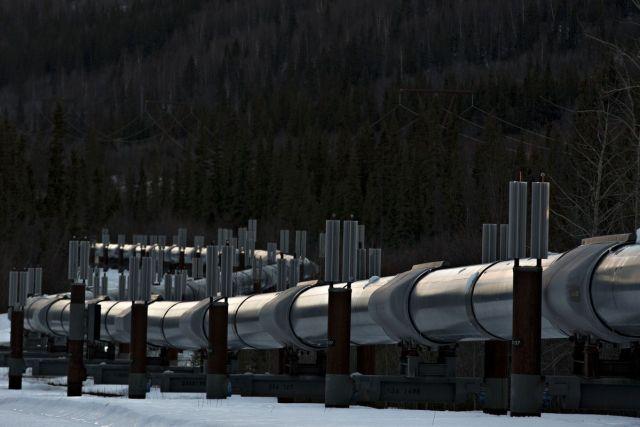 Deo naftovoda Trans-Alaska kraj Kopervila, Aljaska, 14. februar (Daniel Acker/Bloomberg)