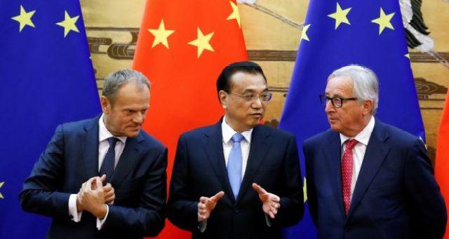Predsednik Evropskog saveta Donald Tusk, kineski premijer Li Kećjang i predsednik EU komisije Žan-Klod Junker
