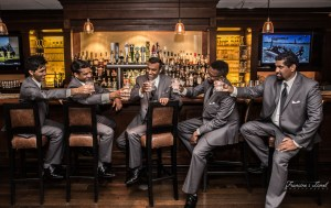 Groomsmen's perfect wedding pose