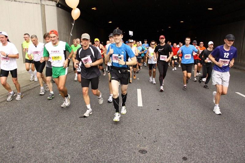 Maraton Warszawski - tunel