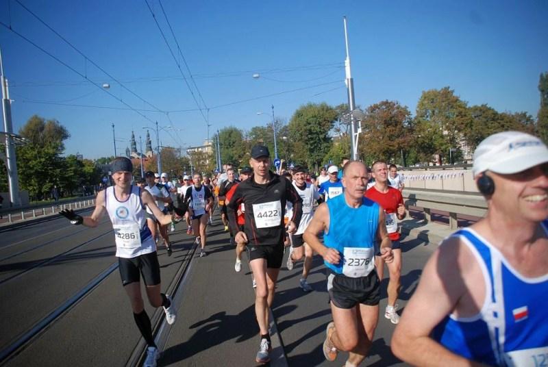 12 Poznań Maraton - na moście Rocha