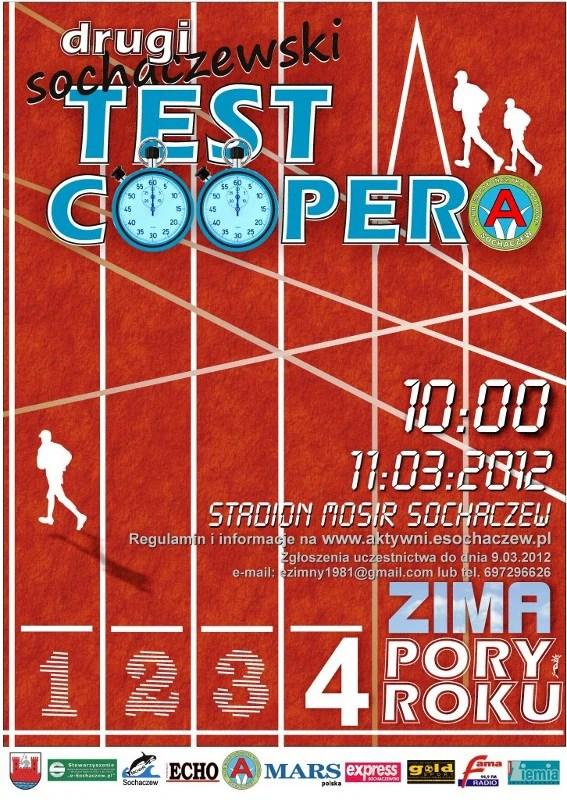 Test coopera - plakat