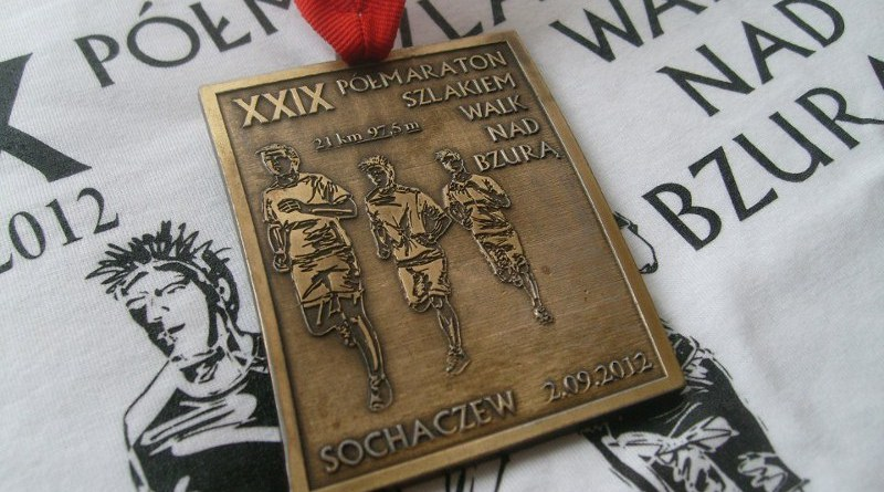 XXIX Połmaraton Sochaczew - medal