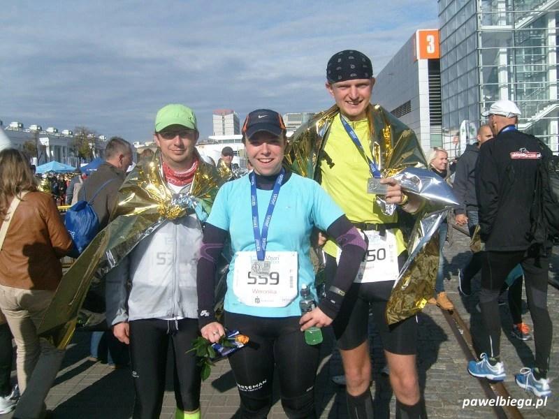 13 Poznan Maraton - na mecie z Marianem i Weroniką