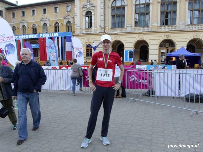 Festiwal Biegowy - Z medalem z Krynickiej Mili