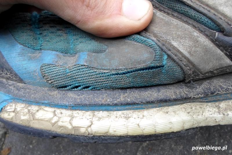 Adidas Supernova Glide 6 - pęknięcie buta lewego