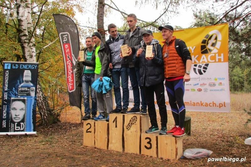 II Sztafetowy Bieg w Łomiankach - podium