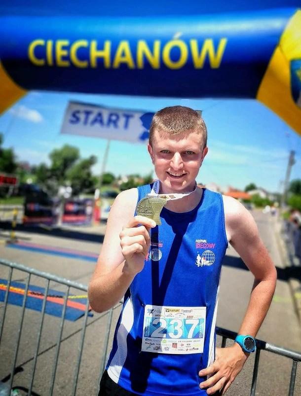 Półmaraton w Ciechanowie - meta