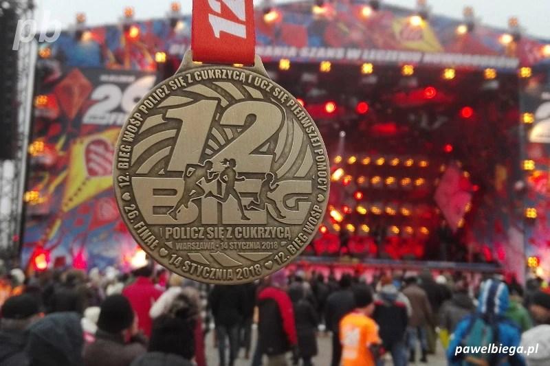12 Bieg WOŚP Policz się z cukrzycą - medal