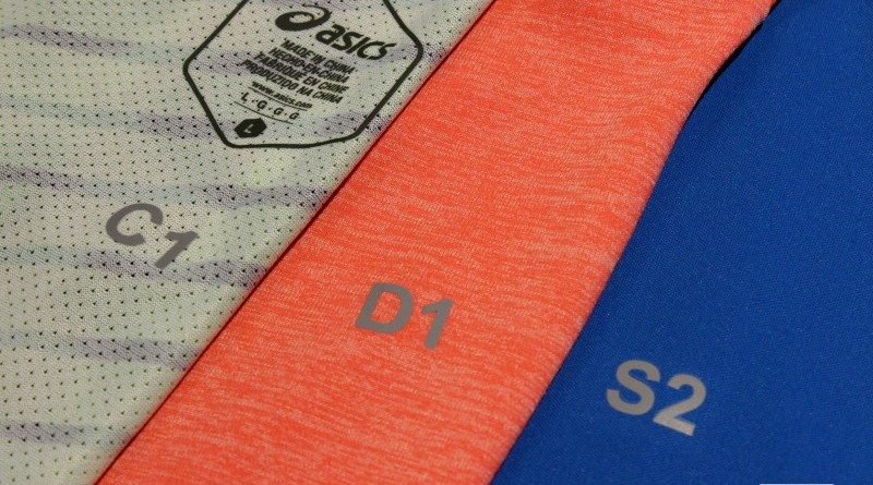 Oznaczenia odzież Asics