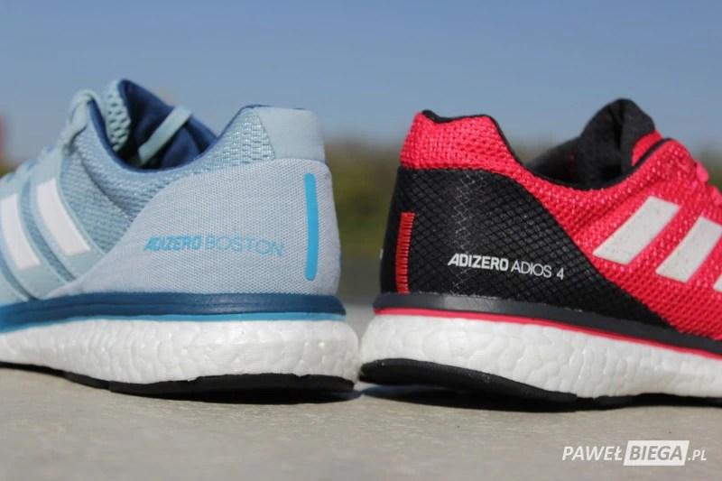 Adidas Adizero Boston vs Adios - tyłem