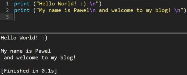 Hello World - in post