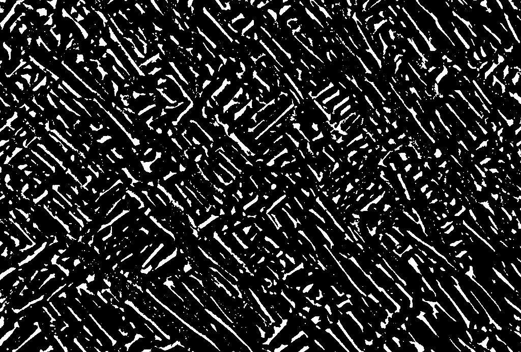 Segmented micrograph with white particles and black background (example)